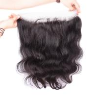 Buy cheap 13*4 Natural Peruvian human hair body wave top quality virgin lace frontal from wholesalers