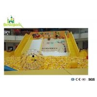 Yellow Childrens Activities Indoor Play Areas , Indoor Ball Pit For Toddlers