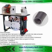 Buy cheap Automatic English System Wave Peak Cut-Open Corrugated Pipe Cutting Feeding Rack Integrated Machine product