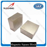 China Tin Coated Neodymium Block Magnets N35 - N52 Grade Customized Dimension on sale