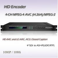 Buy cheap REH2304 Digital TV HD-SDI TO ASI&IP Four-Channel MPEG-2/H.264 HD IPTV System Encoder product