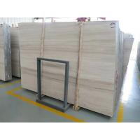 Buy cheap Indoor Wooden White Marble Stone With Bevelled Edge Finished product