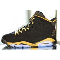 Buy cheap 100% Authentic Nike Air Jordan 6 OVO Mens Shoes Black Gold *clothing-wholesale-online.com product