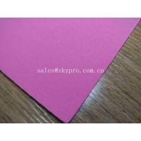 Buy cheap 1mm Thick High Elastic Pink SBR Thin Neoprene Fabric EVA with Polyester Jersey Coating Rubber Sheet product