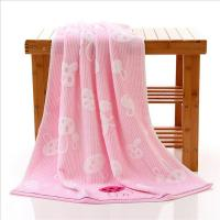 Buy cheap Woven Rabbits Pink Bamboo Bath Towels / Adult Beach Towels For Swimming product