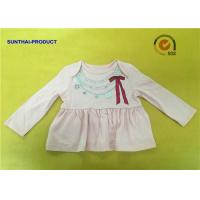 Fashion Necklace Screen Print Tee  Long Sleeve Envelop 100% Cotton Baby Girl Top