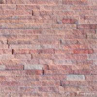 Buy cheap Natural stone Slate Culture Stone Peach Red Quartzite Ledge Stone Panel product