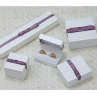 Buy cheap Velvet Or Leather Inside Paper Jewelry Boxes For Pierced Earrings / Pendant product