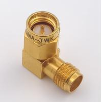 China DC 8.5 GHz 90 Degree Sma Connector Sma Female To  Male Adapter Connector Right Angle on sale