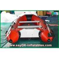 China 0.9mm PVC Inflatable Boats Aluminium Alloy Floor 4-6 Person Canoeing Kayak on sale