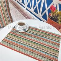 Buy cheap faux straw yarn,EVA,11.8*17.71 inch,Yellow and grey,silver,Dining Room Kitchen Dinging Table Placemats product