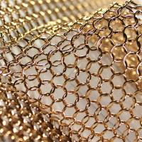Bronze Color Chain Mail Ring Metal Mesh Curtain PanelsFor Space Divider