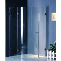 Buy cheap Frameless 700 X 700 Shower Enclosure Corner Entry Brass Hinges Fixed product