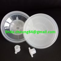 Buy cheap clear PP spray gun paint mixing cup flexible PE material inner cup 600ml inner cup/ lids set product