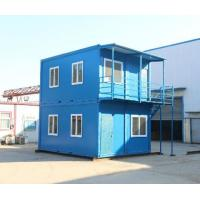 Quality steel structure movable worker camp two stories flat pack container house for sale