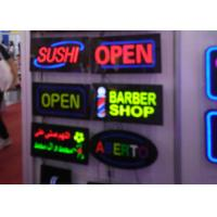 Buy cheap Rectangular Shape Flashing LED Open Sign Black Acrylic With Resin Letter product