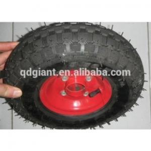China steel rim pneumatic trolley wheels wheelbarrow wheels 3.50-5 on sale