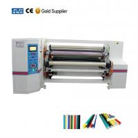 Buy cheap Automatic double shafts adhesive tapes jumbo roll rewinding machine product