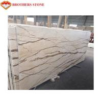 Buy cheap Sofitel Gold Beige Marble Slab , Marble Floor Tiles With Smooth Looking product