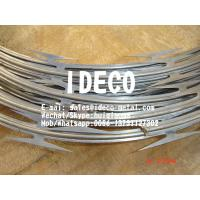 Buy cheap CBT-65 Barbed Tape Razor Wire Concertinas, High Security Helix/Helical Razor Blade Fences product