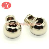 China jiayang round shape cheap metal stopper for elastic cord on sale