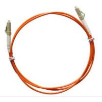 Buy cheap Multimode LC to LC Simplex Fiber Optic Patch Cord with 3.0mm Orange PVC Jacket product