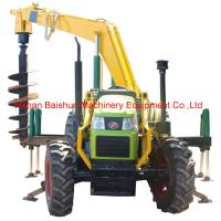 Buy cheap Good quality pole erection machine with tractor post hole digger product