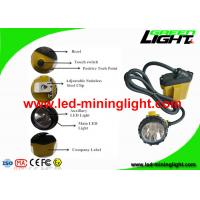 Quality Rechargeable 3W Cree LED Mining Light Cap Lamp with Low Power Warning for sale
