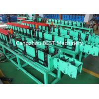 Buy cheap Fenestrated Shutter Door Frame Roll Forming Machine 5.5kw Power PLC Control System product