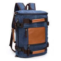 Spacious College Student Backpack Multi Function Solid Canvas For Long Trip