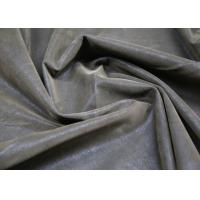 China 0.60 Mm Brown Flocking Leather PU + Polyester Composition For Clothing Fabric on sale