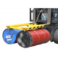 Buy cheap Horizontal Double Drum Grabber Forklift Attachment 900KG Load Capacity Forklift Drum Lifter product