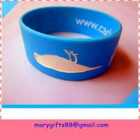 Buy cheap fat design segmented color rubber silicone wrist band product