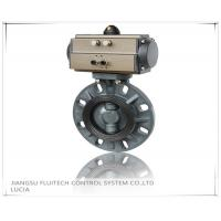 Buy cheap General DN50 PVC Pneumatic Butterfly Valve Wafer Connection With 8 Mounting Holes product