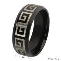 China New Unique Titanium steel 18 k gold & black Wholesale Fashion Jewelry Wedding Bands Vintag on sale