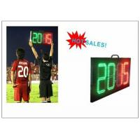 Buy cheap Digital Number 2 Color LED Soccer Substitution Board 2 Side IP62 Light Weight product
