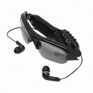 Buy cheap Spy Camera Sunglasses, MP3 Audio Player, 2.0 Million Pixels, 640 x 480P Resolution, 39g Lightweight product