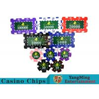 Buy cheap Translucent Marco Style Casino Poker Chip Set With Crystal Clear Texture product