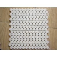 Buy cheap White Black Penny Grey Mosaic Floor Tiles , Various Patterns Stone Brick Mosaic Tiles product