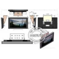 Durable 18.5 Inch Bus Digital Signage Display With Toughened Glass Panel
