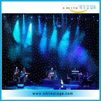 China Concert Background Cloth Light led star curtain for wedding /big commercial on sale