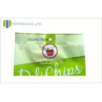 Buy cheap Green Printed Laminated Bags For Fried Chips , Back Side Seal Bag product