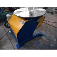 China Tilting Welding Positioner Turn table Revolving by VFD Machine Standing Capacity 1200Kg with Truck on sale