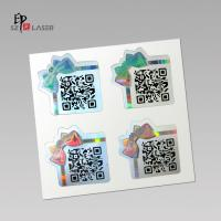 Buy cheap Custom Polyester Holographic sticker labels with serial number printing product