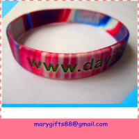 Buy cheap 1/2 inch swirl colors silicone bangles product