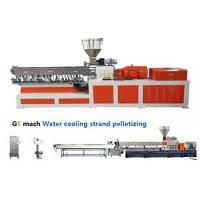 Buy cheap Electrical Control  PP ABS Double Screw Extruder Water Strand Pelletizing Line product