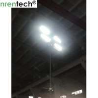 Buy cheap 3.5m pneumatic telescopic mast for mobile light tower, fire truck lighting , inside electric wires telescopic mast product
