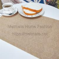 Buy cheap PP+PE,EVA,11.8*17.71 inch,Cream,blue,black,yellow and grey,Woven Plastic Table mats and Runners product