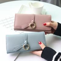 Buy cheap Metal Circle Belt Knot Womens Credit Card Holder Wallet , Multi Functional Students PU Leather Clutch Purse  product