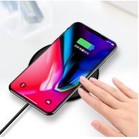 Buy cheap 10W Qi Wireless Phone Charger Pad LED Light Fast Charging for iphone Xs Max X 8 from wholesalers